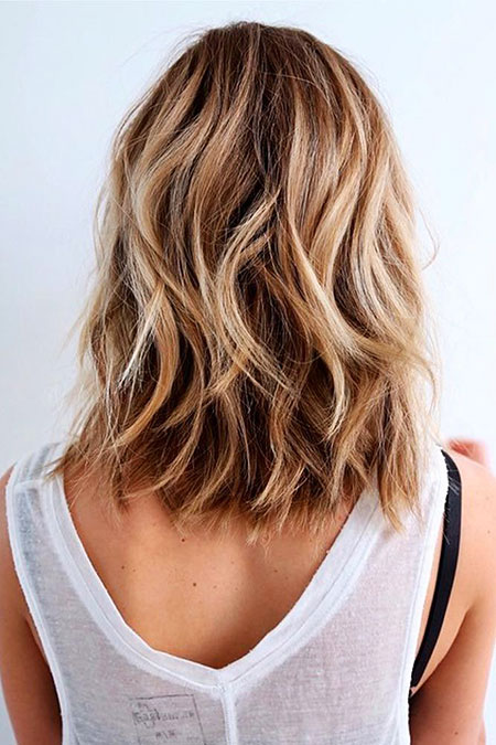 Length, Shoulder, Medium, Wavy, Tran, Short Hairstyles, Round