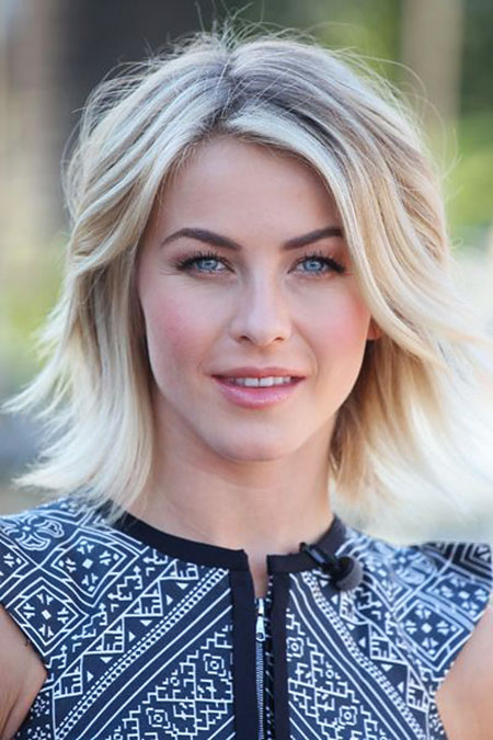Julianne Hough, Short Hairstyles, Up, Painting, Lob, Blonde Hairstyles