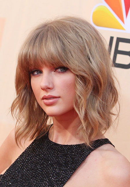 Swift, Short Hairstyles, Shag, Music, Medium, Haircut, Bangs, Awards