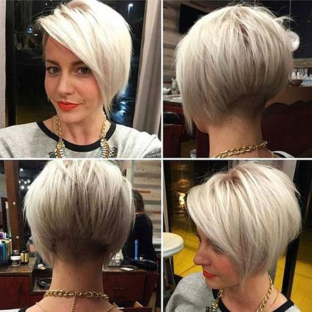 Short Hairstyles, Blonde Bob Hairstyles, Pixie Cut, Women, Undercut