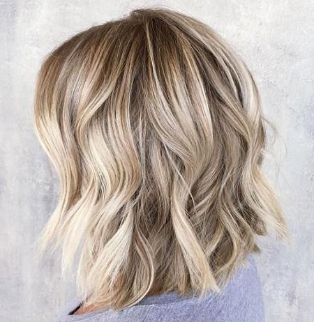 Blonde, Wavy, Highlights, Bob, Balayage, Year, Textured, One, Lob
