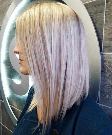 Blonde, Platinum, Long, Bob, Highlights, Medium, Lowlights