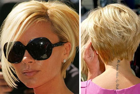 Short Hairstyles, Blonde Bob Hairstyles, Victoria, Beckham, Bangs