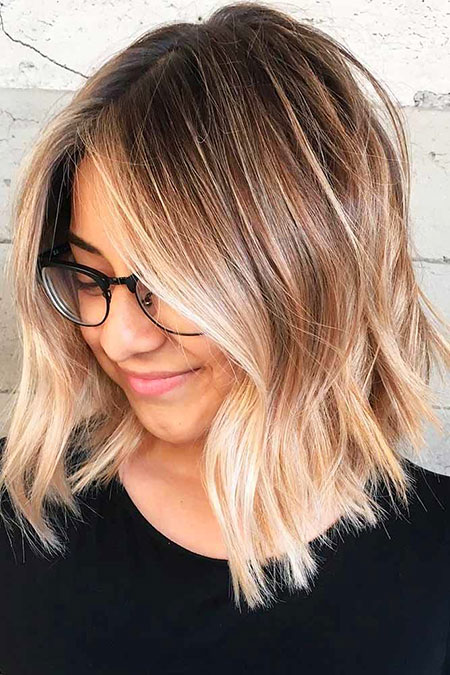 Blonde Hairstyles, Balayage, Shoulder, Length, Frisyrer