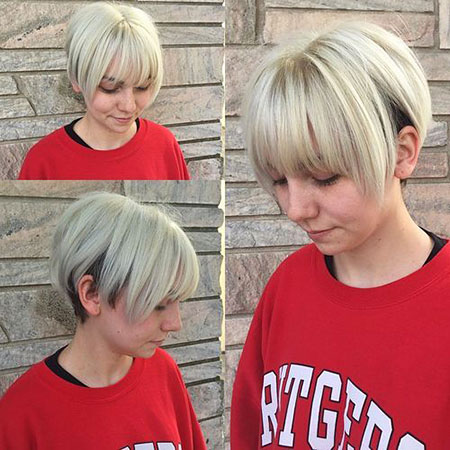 Short Hairstyles, Blonde Hairstyles, Undercut, Women, White