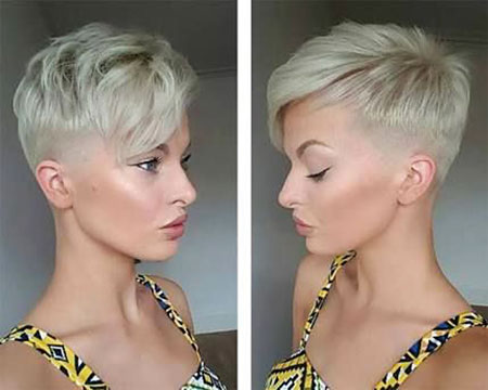 Short Hairstyles, Undercut, Kapsels, Round, Pixie Cut