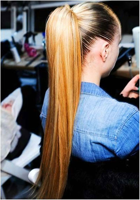 Ponytail, Women, Waves, Straight, Simple, Ponytails, Pony, Ombre, Long