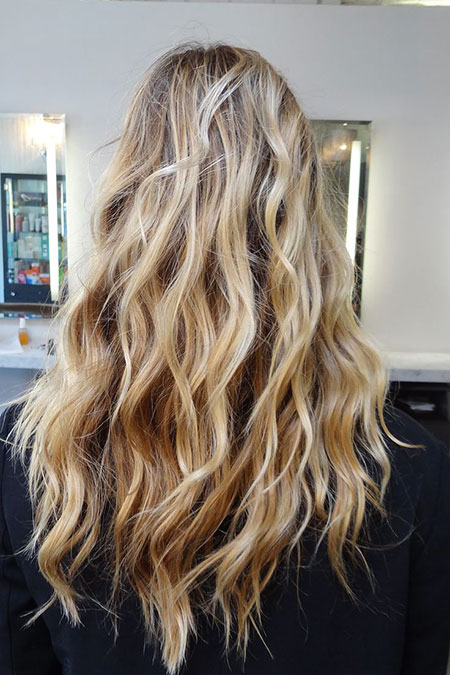 Blonde, Waves, Sandy, Beach, Balayage, Wavy, Wave, Texture