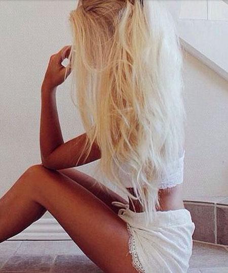 Blonde, Pink, Bleach, Skin, Long, Bleached