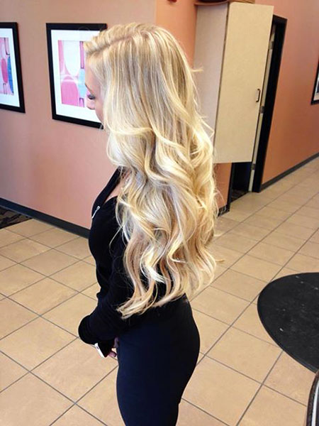 Up Blonde Balayage Ombre Curls