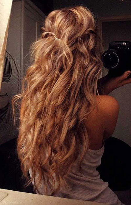 Long Wavy Wedding Waves Perm Loose Curls Curl Blonde