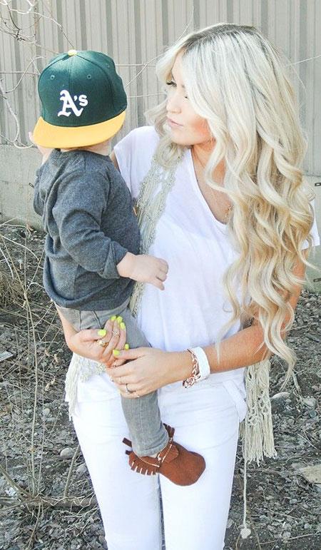 Blonde White Loren Long Curls Cara Ash