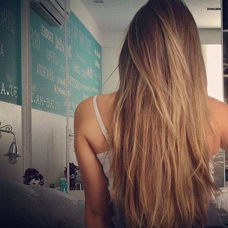Ombre Natural Long Layers Highlights Dirty Blondes Blonde