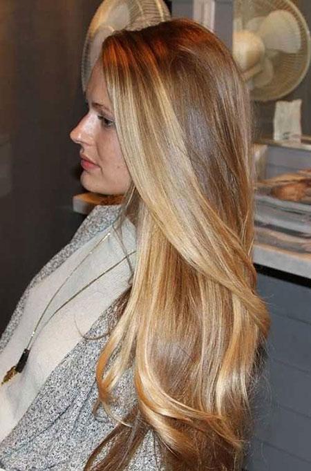 Blonde Highlights Balayage Ombre Natural Long Honey