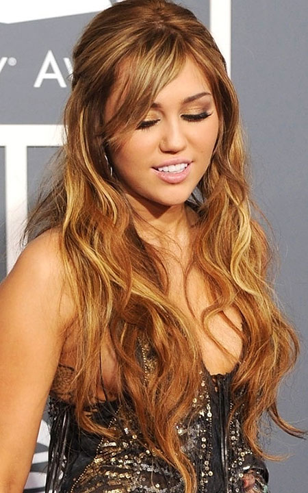 Miley, Cyrus, Gold, Very, Up, Tone, Over, Natural, Low, Long
