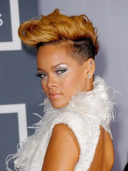 Short Hairstyles, Rihanna, Layered, Women, Shaggy