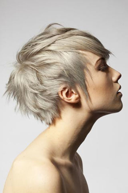Short Hairstyles, Blonde Hairstyles, Pixie Cut, Ash, Women, White