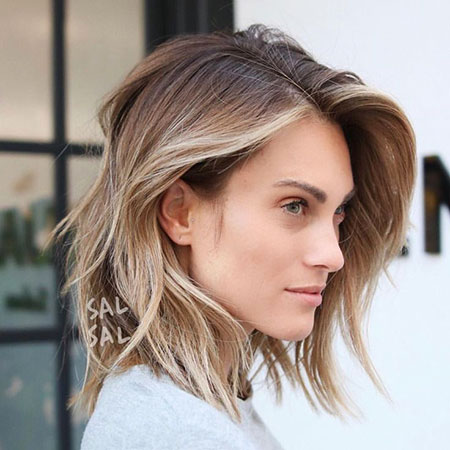Medium, Blonde Bob Hairstyles, Balayage, Thin, Ombre, Lob, Bronde Hairstyles