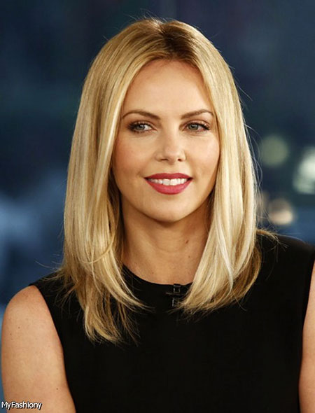 Blonde Bob Hairstyles, Long, Length, Wedding, Thin, Theron, Shoulder