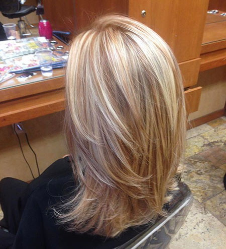 Blonde Hairstyles, Highlights, Lowlights, Medium