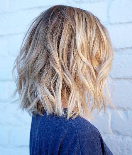 Blonde Hairstyles, Women, Curly, Balayage, Tran