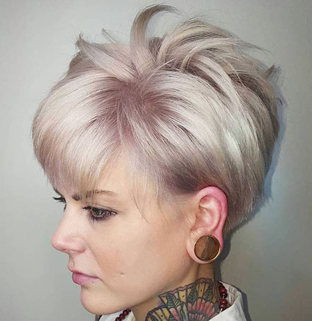 Blonde Hairstyles, Short Hairstyles, Pixie Cut, Ash, Purple