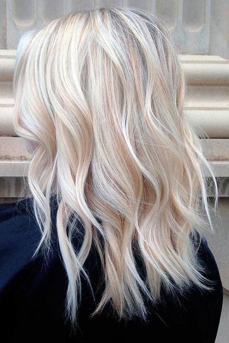 Blonde Hairstyles, Balayage, Women, Wavy, Short Hairstyles, Platinum