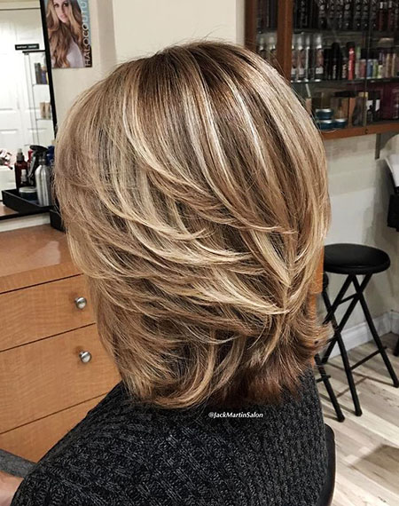 Blonde, Medium, Layered, Brown, Women, Length, Highlights, Should