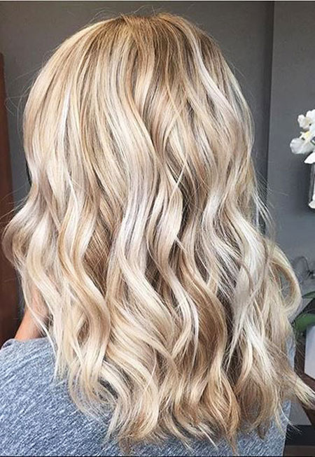 Blonde, Highlights, Butter, Balayage, Waves, Toned, Shades