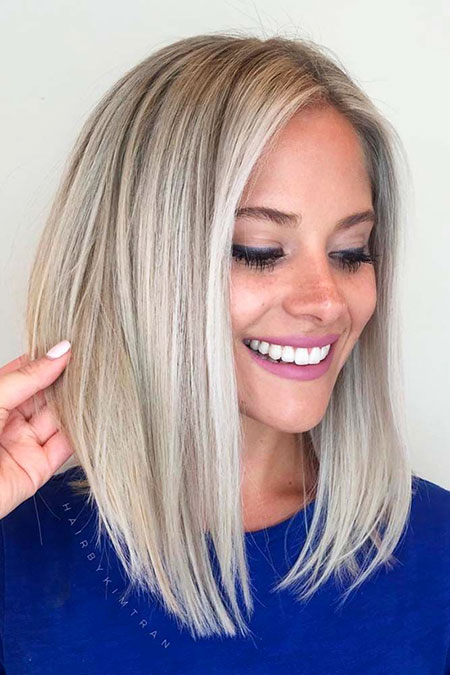 Blonde, Shades, Platinum, Bob, Shade, Pretty, Long, Lob, Highlights