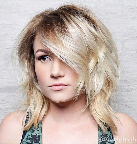 Short, Medium, Bob, Blonde, Mid, Locks, Length, Layered, Cute, Bobs, Bangs