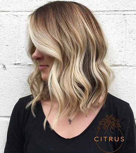 Long, Bob, Blonde, Balayage, Parted, Medium, Lob, Layered