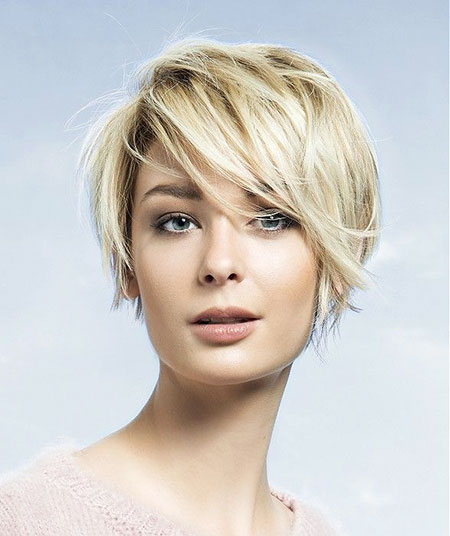 Short Hairstyles, Blonde Hairstyles, Women, Sassy, Round, Really