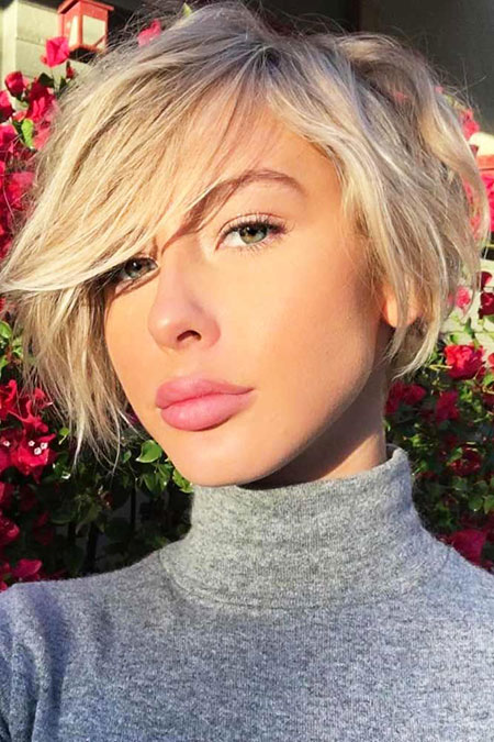 Short Hairstyles, Blonde Bob Hairstyles, 2017, Strawberry, Nicole, Celebrity