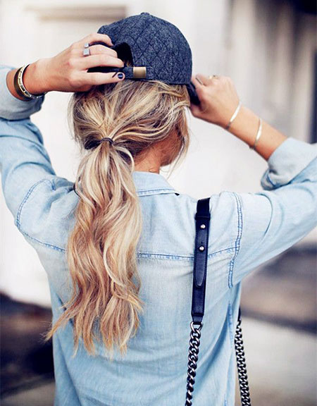 Ponytail, Curly, Braid, Blonde, Trend, Simple, Pretty, One