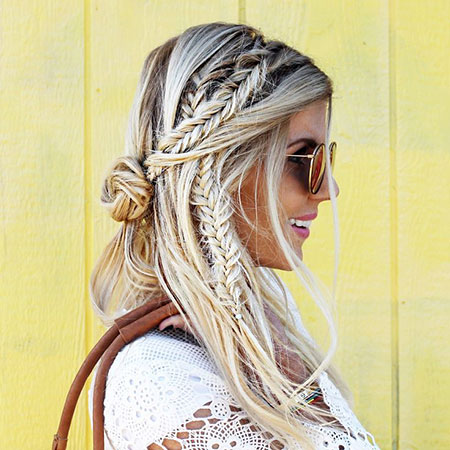 Braid, Trenza, Fishtail, Fashion, Braids, Braided, Boho, Bohemian