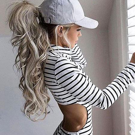 Stripes Short Patch Lady Girls Elbow Blonde