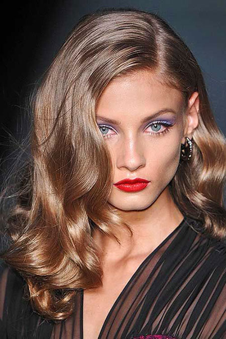 Dark Blonde Lips Taylor Swift Red Long