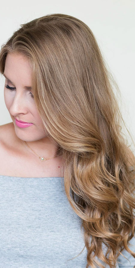 Blonde Highlights Should Lowlights Long Dirty Curls Balayage Ashley