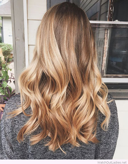 Blonde Balayage Golden Ombre Fall Creative Colors