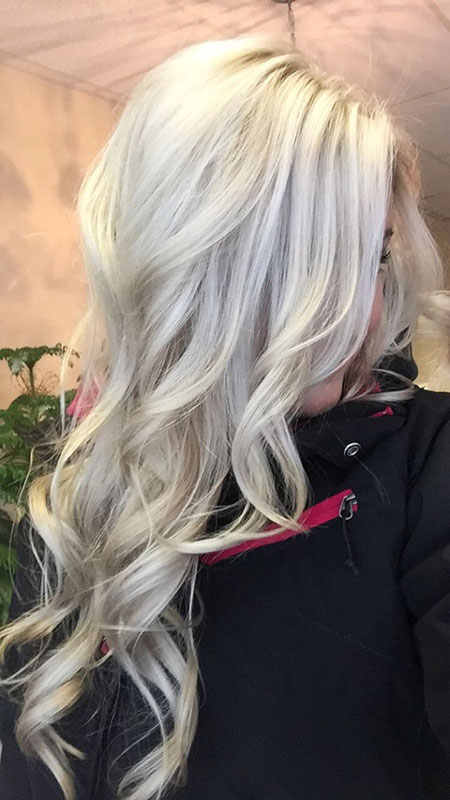 Blonde Platinum White Silver Long Balayage Ash