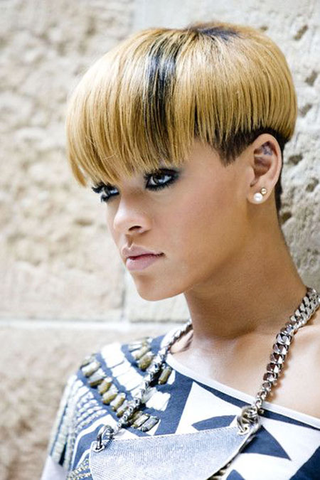 Short Hairstyles, Rihanna, Women, Wavy, Straight Hairstyles