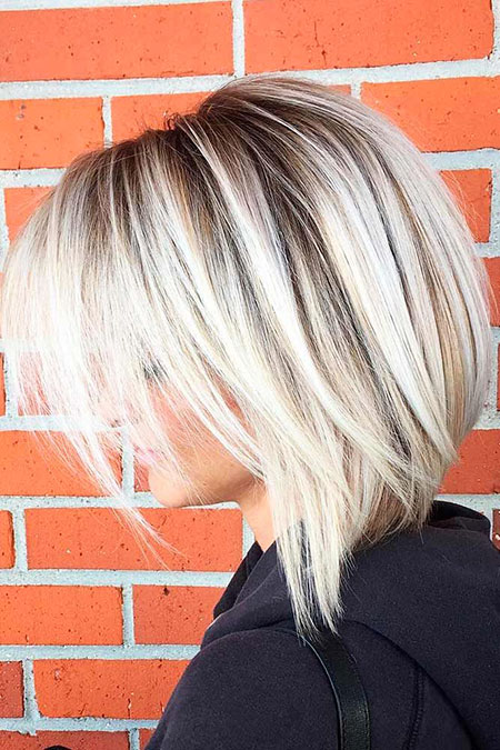 Blonde Hairstyles, Blonde Bob Hairstyles, Medium, Balayage, Thin
