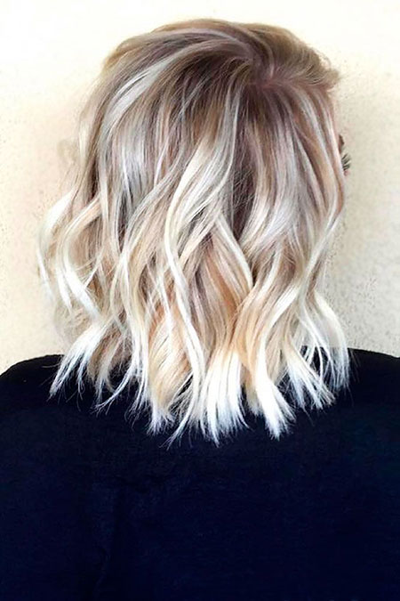 Blonde Hairstyles, Short Hairstyles, Medium, Balayage, Over