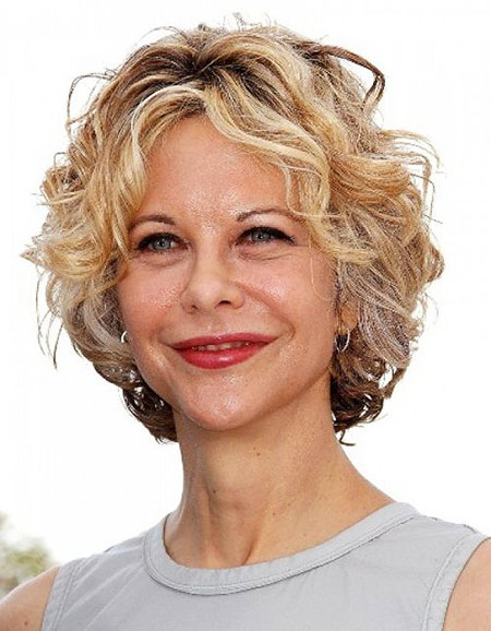 Short Hairstyles, Curly, Ryan, Meg, Women, Trendy, Textured, Straight Hairstyles
