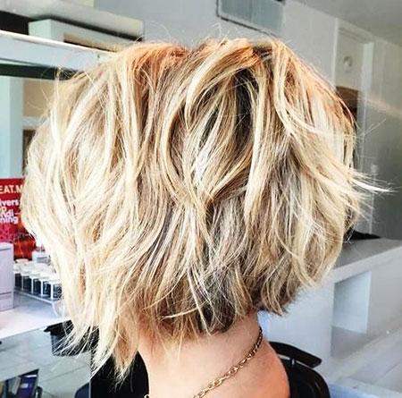 Short Hairstyles, Blonde Bob Hairstyles, Blonde Hairstyles, 2017, Wavy