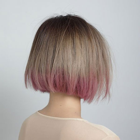Blonde Bob Hairstyles, Short Hairstyles, Season, Rose, Pink, Pastel