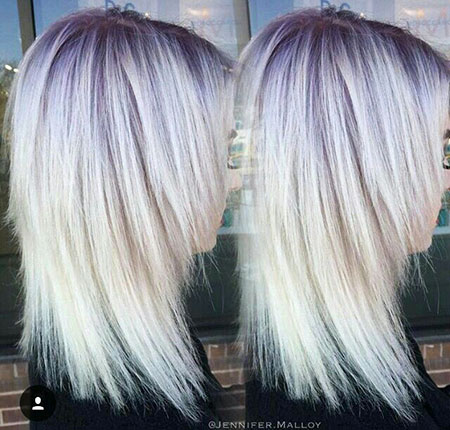 Blonde Hairstyles, Purple, Platinum, Lowlights, Icy, Balayage