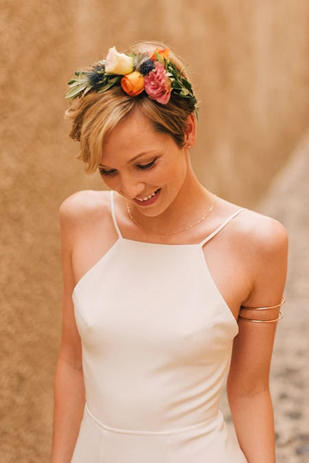 Wedding, Crown, Bridal, Work, Short Hairstyles, Really, Pretty