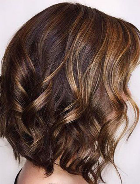 Highlights, Balayage, Caramel, Brown, White